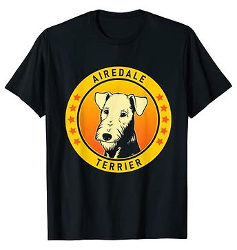 Airedale-Terrier-Portrait-Yellow-tshirt.