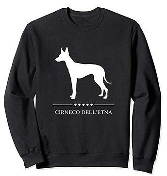 White-Stars-Sweatshirt-Cirneco-dell'Etna