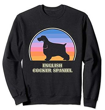 Vintage-Sunset-Sweatshirt-English-Cocker