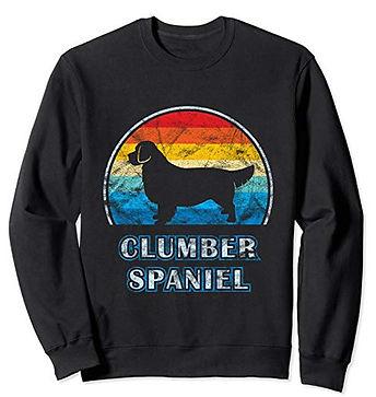 Vintage-Design-Sweatshirt-Clumber-Spanie