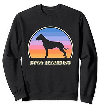 Dogo-Argentino-Vintage-Sunset-Sweatshirt