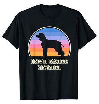 Vintage-Sunset-tshirt-Irish-Water-Spanie