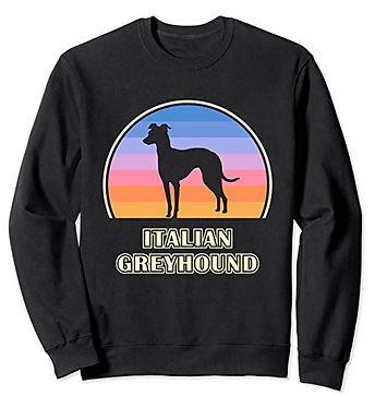 Vintage-Sunset-Sweatshirt-Italian-Greyho