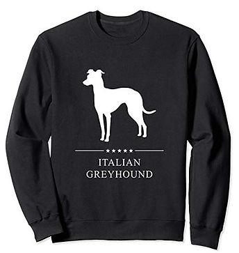 White-Stars-Sweatshirt-Italian-Greyhound