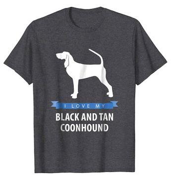 Black-and-Tan-Coonhound-White-Love-tshir