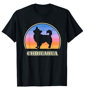 Vintage-Sunset-tshirt-Longhaired-Chihuah