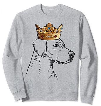 English-Foxhound-Crown-Portrait-Sweatshi