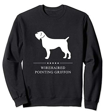 White-Stars-Sweatshirt-Wirehaired-Pointi