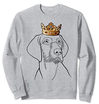 Wirehaired-Vizsla-Crown-Portrait-Sweatsh