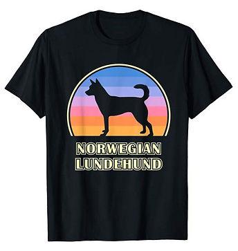 Vintage-Sunset-tshirt-Norwegian-Lundehun