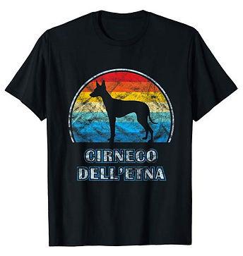 Vintage-Design-tshirt-Cirneco-dell'Etna.