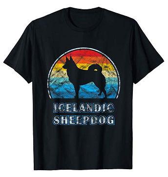 Vintage-Design-tshirt-Icelandic-Sheepdog