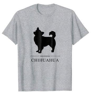 Chihuahua-Longhaired-Black-Stars-tshirt.