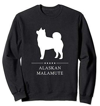 White-Stars-Sweatshirt-Alaskan-Malamute.
