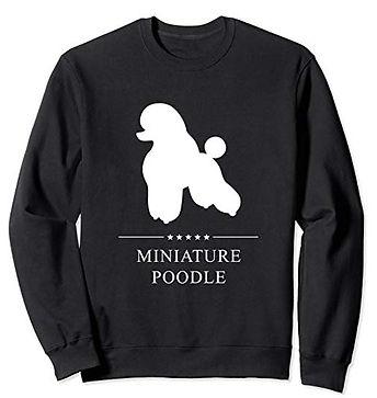 White-Stars-Sweatshirt-Miniature-Poodle.