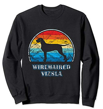 Vintage-Design-Sweatshirt-Wirehaired-Viz