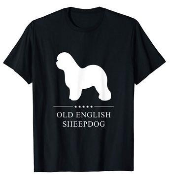 Old-English-Sheepdog-White-Stars-tshirt.