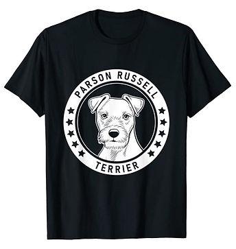 Parson-Russell-Terrier-Portrait-BW-tshir