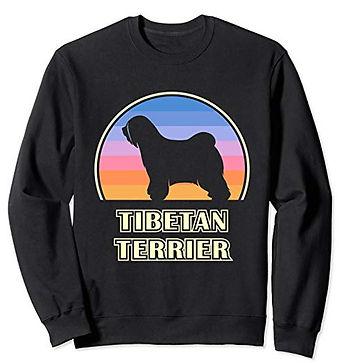 Vintage-Sunset-Sweatshirt-Tibetan-Terrie