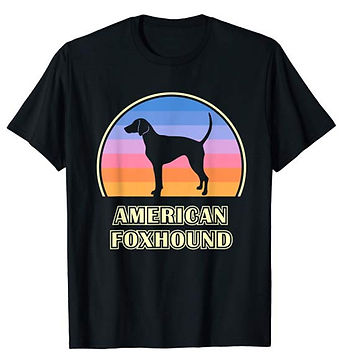 Vintage-Sunset-tshirt-American-Foxhound.