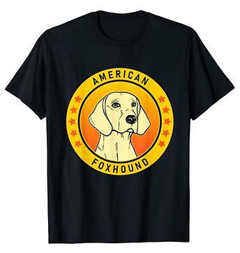 American-Foxhound-Portrait-Yellow-tshirt