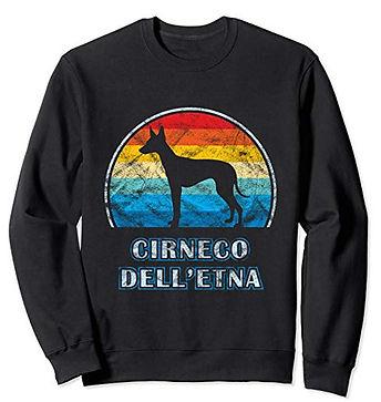 Vintage-Design-Sweatshirt-Cirneco-dell'E