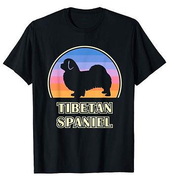 Vintage-Sunset-tshirt-Tibetan-Spaniel.jp
