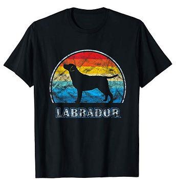 Vintage-Design-tshirt-Labrador-Retriever