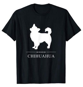 Chihuahua-Longhaired-White-Stars-tshirt.