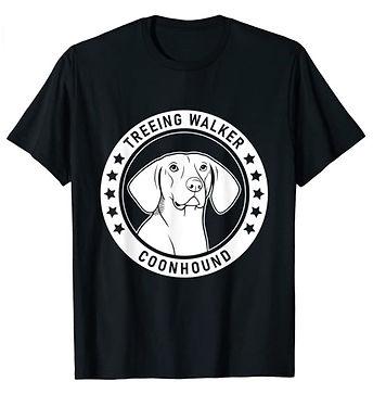 Treeing-Walker-Coonhound-Portrait-BW-tsh