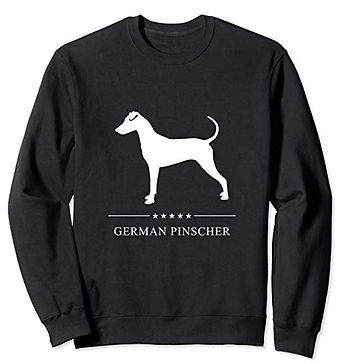 White-Stars-Sweatshirt-German-Pinscher.j