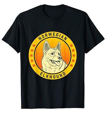 Norwegian-Elkhound-Portrait-Yellow-tshir
