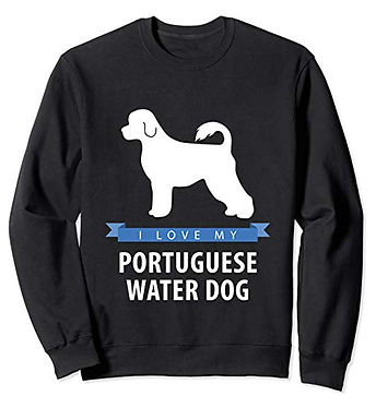 White-Love-sweatshirt-Portuguese-Water-D