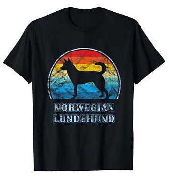 Vintage-Design-tshirt-Norwegian-Lundehun