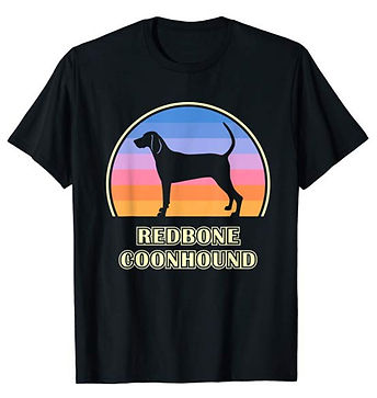 Vintage-Sunset-tshirt-Redbone-Coonhound.