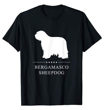 Bergamasco-Sheepdog-White-Stars-tshirt-b