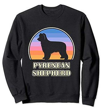 Vintage-Sunset-Sweatshirt-Pyrenean-Sheph
