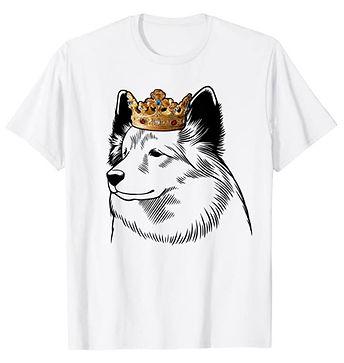 Icelandic-Sheepdog-Crown-Portrait-tshirt