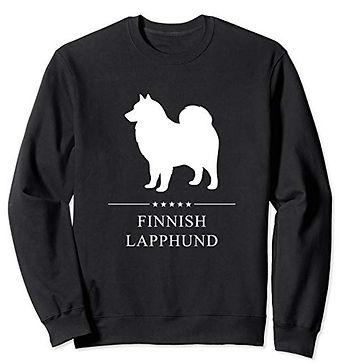 White-Stars-Sweatshirt-Finnish-Lapphund.