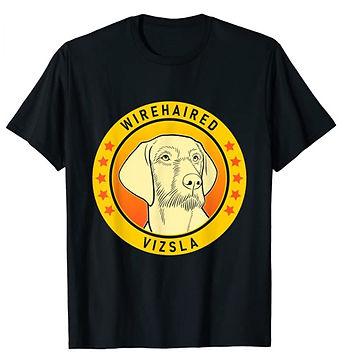 Wirehaired-Vizsla-Portrait-Yellow-tshirt