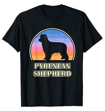 Vintage-Sunset-tshirt-Pyrenean-Shepherd.