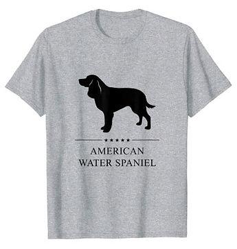 American-Water-Spaniel-Black-Stars-tshir