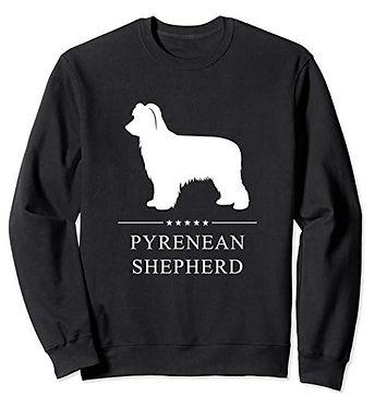 White-Stars-Sweatshirt-Pyrenean-Shepherd