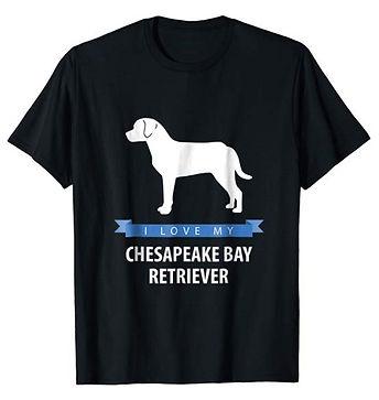 White-Love-tshirt-Chesapeake-Bay-Retriev