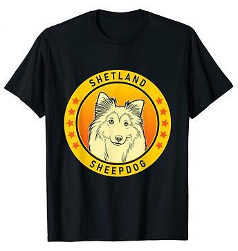 Shetland-Sheepdog-Portrait-Yellow-tshirt