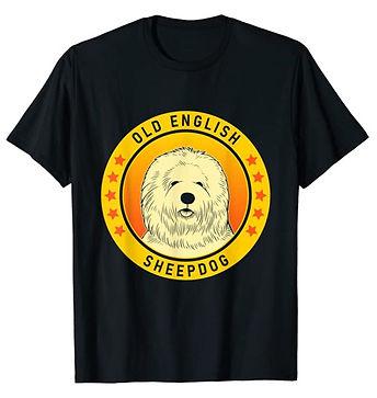 Old-English-Sheepdog-Portrait-Yellow-tsh