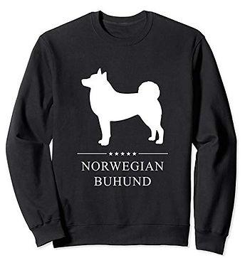 White-Stars-Sweatshirt-Norwegian-Buhund.
