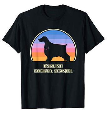 Vintage-Sunset-tshirt-English-Cocker-Spa