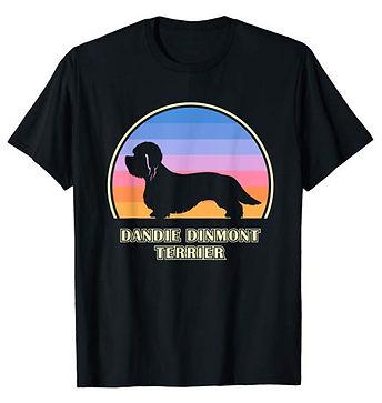 Vintage-Sunset-tshirt-Dandie-Dinmont-Ter
