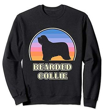 Vintage-Sunset-Sweatshirt-Bearded-Collie
